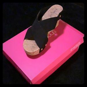 Shoedazzle- Black Wedge